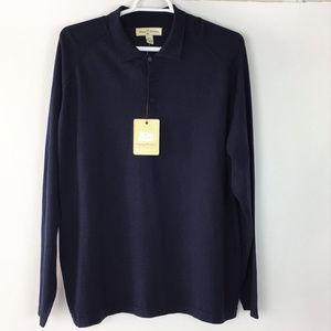 Tommy Bahama Men Shirt Long Sleeve Dark Blue